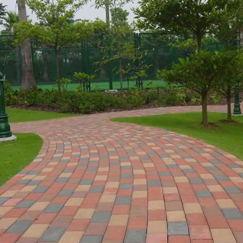 公园路面透水砖安装