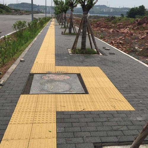 人行道透水砖施工